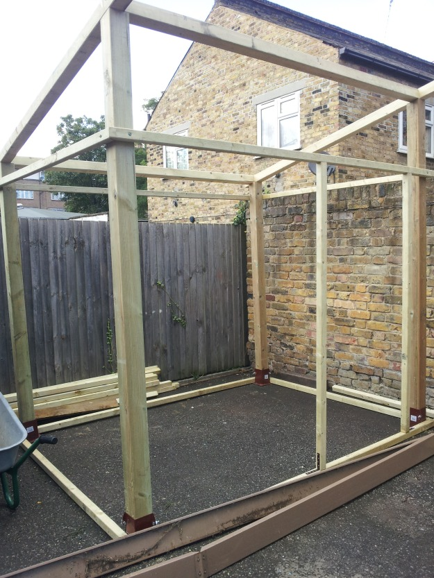 Our skeleton greenhouse.